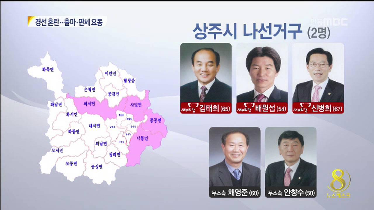 R]6.4지방선거 출마자-상주시