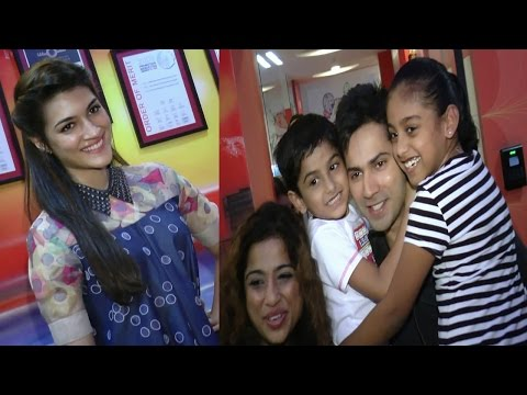 Varun Dhawan & Kriti Sanon Spotted At Red FM Studio