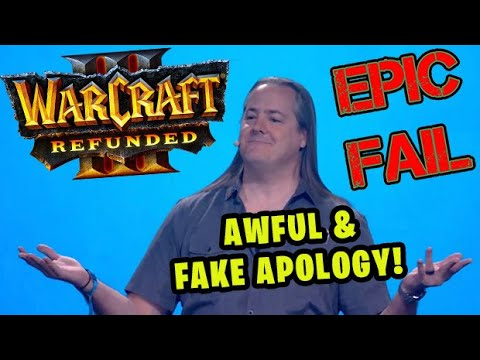 Blizzards AWFUL & FAKE Apology for Warcraft 3: Reforged!