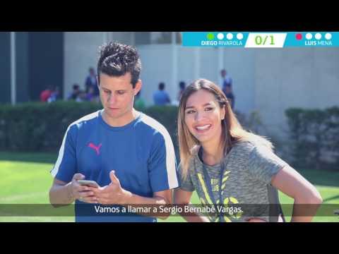 [Video] Diego Rivarola defendió a la U en desafío Movistar frente a Luis Mena en la previa del Superclásico