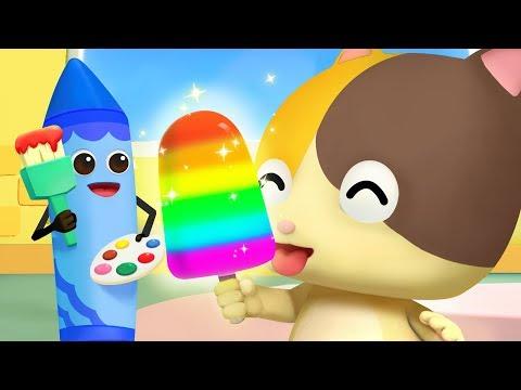 Colors Song -Ice Pop | Learn Colors | Nursery Rhymes | Kids Songs | Toddler Songs | BabyBus