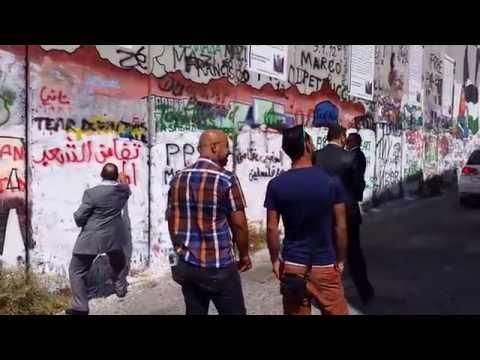 نبيل بنعبد الله يكتب على جدار العزل العنصري: الحرية لفلسطين 24 غشت 2014