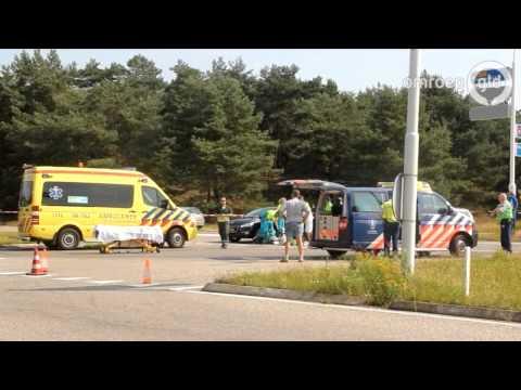 Motorrijder zwaargewond Kootwijkerweg Uddel