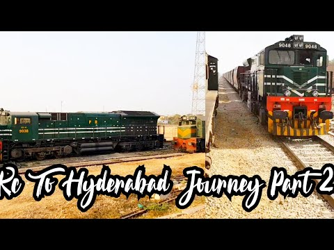 Karachi To Hyderabad Train Journey || Two Crosses || Shah Latif Express || ( Part 2 )