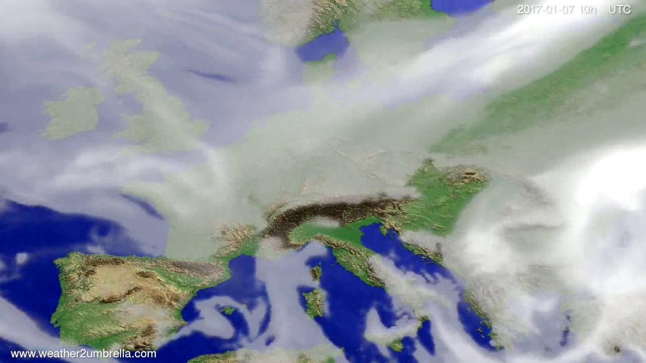 Cloud forecast Europe 2017-01-05