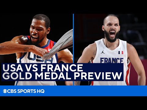 USA Basketball VS France Gold Medal Preview in the Tokyo Olympics   CBS Sports HQ