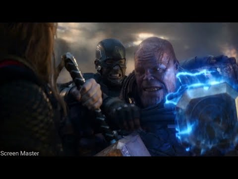Infinity Nanogauntlet Fight // Trinity vs Thanos Last Fight | Avengers: Endgame [Open Matte/IMAX HD]