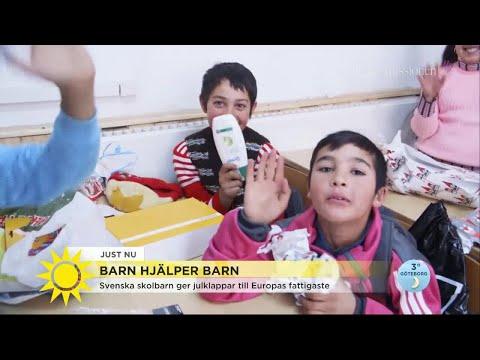 """""""Fascinerande att se hur glada barnen blir av en tvål i julklapp"""" - Nyhetsmorgon (TV4)"""