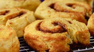 Cinnamon Roll Scones Recipe Demonstration - Joyofbaking.com