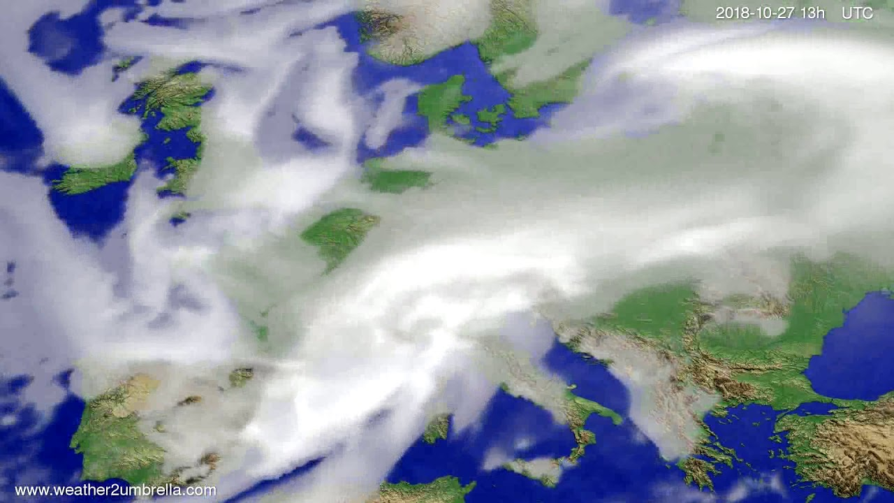Cloud forecast Europe 2018-10-24