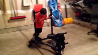 3. The kids new toy.  120 lbs of weight plus 50 lb sled.  They couldn't wait to use it.  Epic!