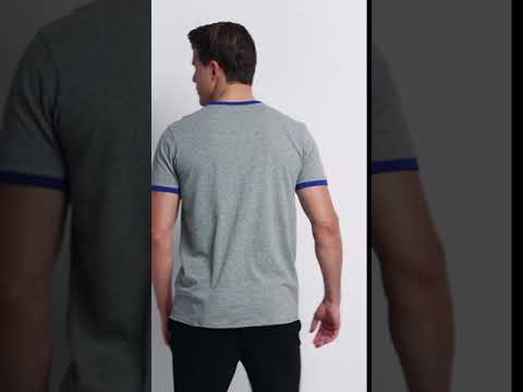 Men's Cotton Performance Ringer T-Shirt
