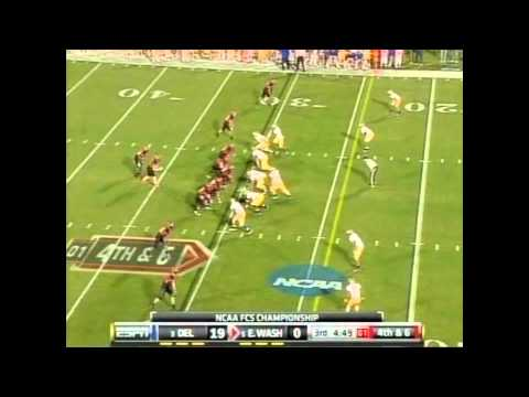 Brandon Kaufman vs Delaware D 2011 FCS Championship video.