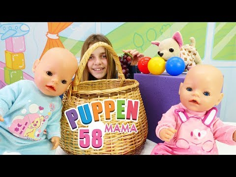 Puppen Mama. Picknick im Park. Spielzeugvideo für Kinder mit BabyBorn