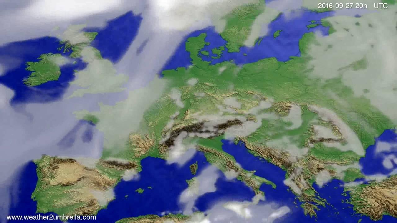 Cloud forecast Europe 2016-09-25
