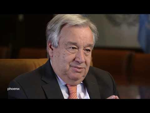 UN-Generalsekretär António Guterres im Gespräch vom 2 ...