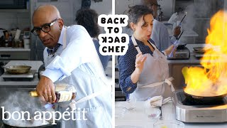 Al Roker Tries to Keep Up with a Professional Chef   Back-to-Back Chef   Bon Appétit
