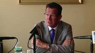Gov. Malloy speaks with The Day's editorial board