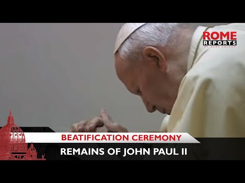 Remains of John Paul II, to be transferred for Beatification Ceremony