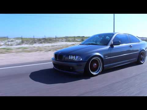 2001 BMW 330ci with the straight pipe exhaust.