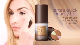 quick beauty tip: how to use colored clay cc primer