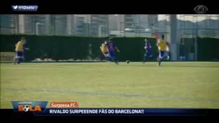 rivaldo surpreende fãs  do barcelona