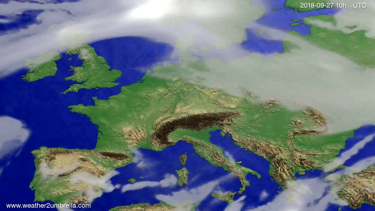 Cloud forecast Europe 2018-09-24