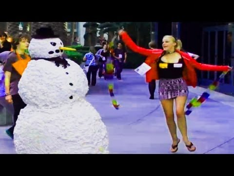 Moving Snowman Prank on St. Patricks Day