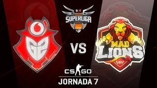 G2 VODAFONE VS MAD LIONS E.C. - MAPA 1 - SUPERLIGA ORANGE - #SUPERLIGAORANGECSGO7