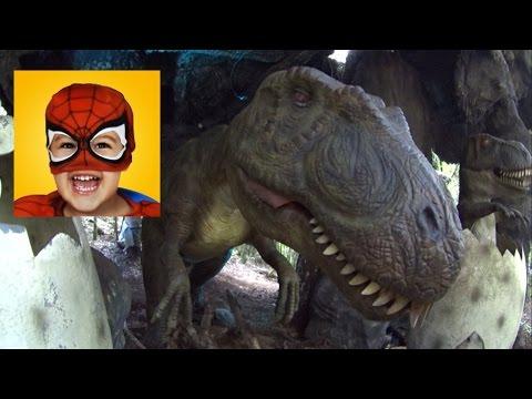 Homem Aranha no PARQUE DOS DINOSSAUROS - Spider-Man in Dinosaurs Park