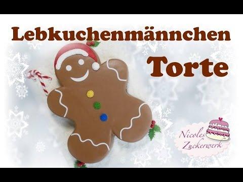 Lebkuchenmännchen Motivtorte | Gingerbread Man Cake | Lebkuchenmann von Nicoles Zuckerwerk