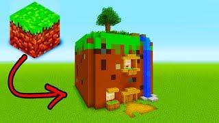 "Minecraft Tutorial: How To Live Inside a Grass Block In Minecraft ""Grass Block House"""