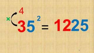 Truco matemático para resolver mentalmente el cuadrado de una cantidad de 2 dígitos que termine en 5.por ejemplo: 15, 25, 35, 45, 55, 65, 75, 85 y 95Si te gusto, no olvides suscribirte al canal! y regalarme un like.