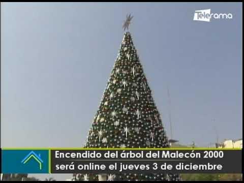 Encendido del árbol del Malecón 2000 será online el jueves 3 de diciembre