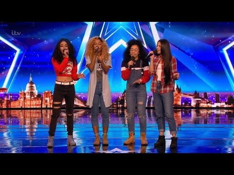 Britain's Got Talent 2017 The Miss Treats Girl Band Full Audition S11E03