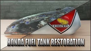 Video Motorcycle Fuel Tank Restoration ( Honda TL125 70's) MP3, 3GP, MP4, WEBM, AVI, FLV April 2019