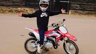 10. I got a brand new dirt bike | Honda crf 110