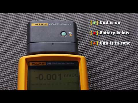 How to Connect The Fluke ir3000 FC Connector to the Fluke 289