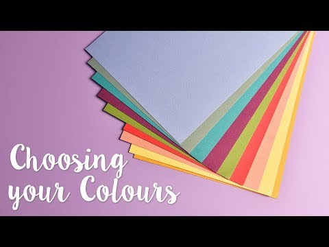 Choosing complimentary colours with card -  with Katie Skilton