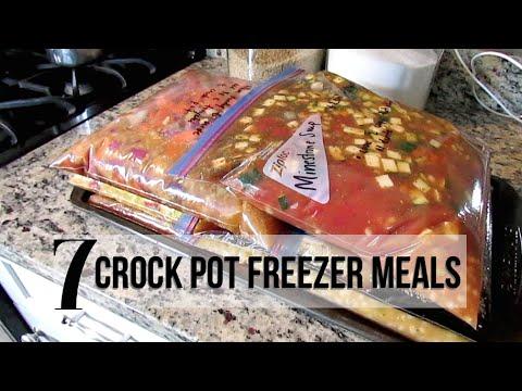 7 CROCK POT FREEZER MEALS | RECIPES + SHOPPING LIST