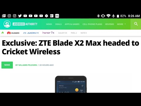 ZTE Blade X2 Max Officially Leaked Coming Soon To Cricket Wireless Review Of Specs Soon To Come