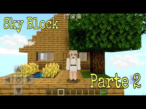Como jogar Sky Block no minecraft part. 2☁️⛰☁️