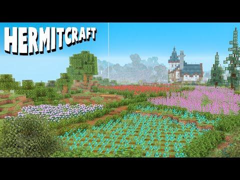 I Made Some Beautiful Flower Fields! :: Hermitcraft 7