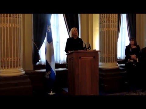 Extraits - Discours de bienvenue - Événement En marche pour la parité, prononcé par Maryse Gaudreault, Assemblée nationale, le 11 avril 2016