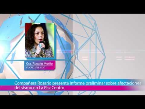Compañera Rosario presenta informe preliminar sobre afectaciones del sismo en La Paz Centro