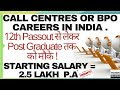 Call Center or BPO Career in India   Jobs   Salary   Interview   Complete Information in Hindi/Urdu