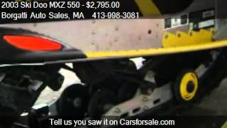 6. 2003 Ski Doo MXZ 550  - for sale in Southwick, MA 01077