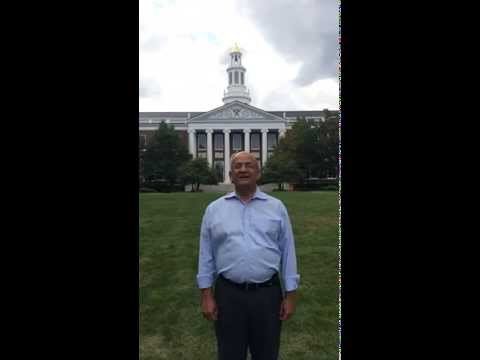 Dean Nitin Nohria takes the ALS ice bucket challenge