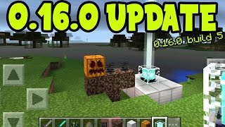 MCPE 0.16.0 UPDATE ALPHA BUILD 5 GAMEPLAY // 0.16.0 ALL NEW FEATURES - Minecraft PE (Pocket Edition)