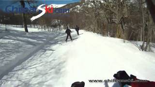 Bosque Nevado ski trail video, Termas de Chillán Chile